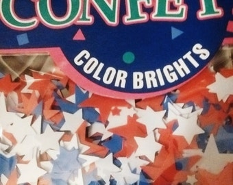 Amscan Red, White and Blue Star Confetti
