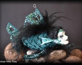 Aquamarine fish Art Doll