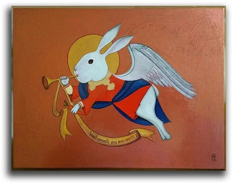 "Pop Surrealism Art / Original Art / Original PAINTING / Oil on Board,  ""Advent"" by N. Prutski"