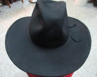 Cappello stile cowboy anni 50/Nero/Cowboy black hat/1950's