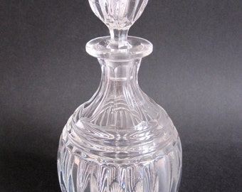 Vintage moulded glass art deco port or wine decanter from the 193040s