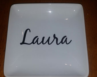 Large Name Jewelry Tray/ Custom Gift/ Personalized Gift/ Name Gift