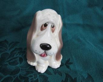 Vintage Sad Basset Hound Figurine