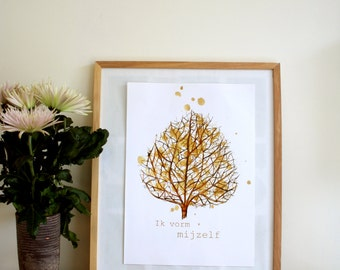 Poster A3 I form myself, nature inspired home