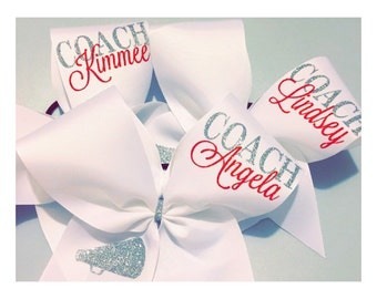 Personalized Cheer Coach Bow
