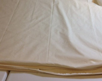 Duvet Comforter Cover with Unbleached Muslin Fabric