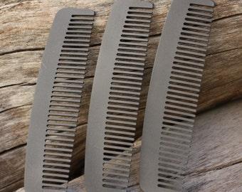 Titanium Comb Metal Comb Men's Comb Made In USA