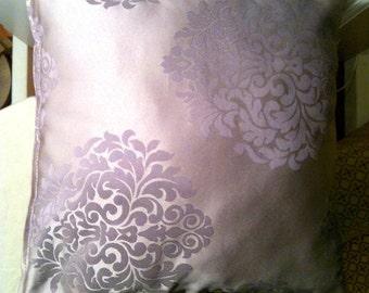 Purple Floral Pillow