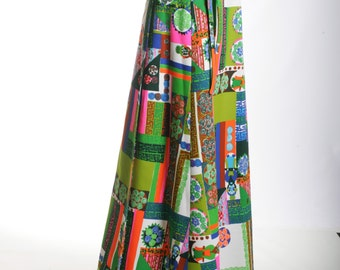 Ms. Jetsetter Art Deco Maxi Wrap Skirt