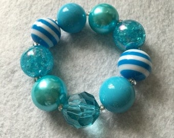 Blue Chunky Bracelet - Child Size
