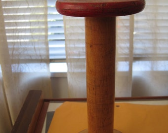 Vintage wooden spool 9""