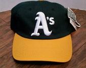 Deadstock Vintage 90's Oakland Athletics Snapback By Outdoor Cap
