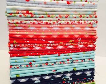 1 Yard Bundle Vintage Picnic by Bonnie and Camille for Moda-40 Fabrics- Entire Line