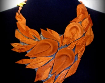 """Necklace made of genuine leather """"Fairytale"""""""