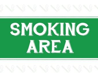 "Smoking Area 10x8"" Metal Sign Pub Club Property Business Smokers Outdoors 25"