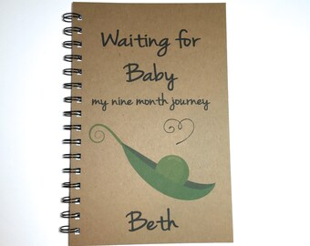 Pregnancy Journal, Pregnancy Notebook, Pea Pod, Baby, Pregnancy Diary, Maternity Gift, Pregnancy, Journal, Bullet Journal,  Pregnancy Gift