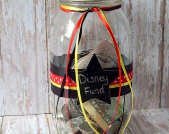 Disney Fund Bank - Disney Vacation Jar - Disney Gift - Disney World Vacation - Disney Cruise - Disney Savings - Disney Lover Gift