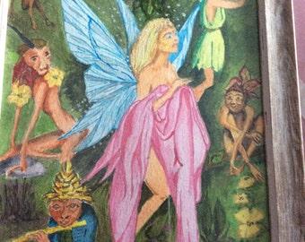 Watercolour fairy pixie