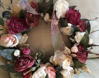 May Garden Peony Wreath