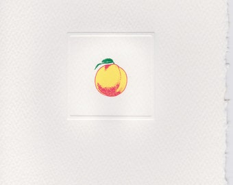 Engraved Peach Foldover Note