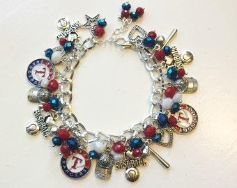 Texas Rangers Chunky Charm Bracelet