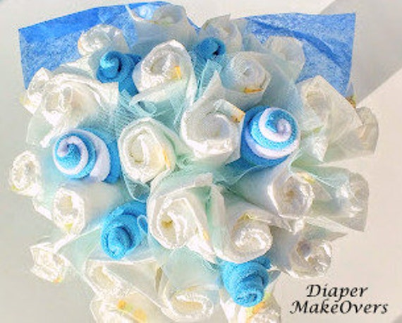 Diaper Bouquet - Congratulations - Unique Baby Shower Gift or Decoration - Hospital Gift - Baby Boy, Baby Girl, Neutral Gift
