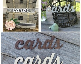 Cards Sign Wedding, Rustic Wedding Card Sign for Reception, Rustic Chic Wedding Sign, DIY Wedding, Wedding Decoration, Wood Cards Sign