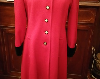 Beautiful red-black full length coat  MDP Designs Made in U.S.A.