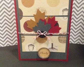 Fall-Thanksgiving-Thank You Card-Handmade
