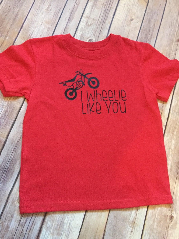 Toddler Baby Boy Valentine Shirt I Wheelie Like You With