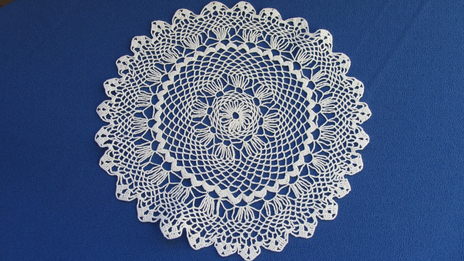 Vintage Crochet cotton USSR napkin, Crochet lace napkin, Cotton napkin, Cotton l