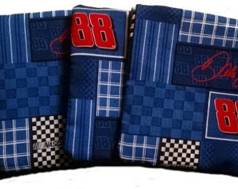 Dale Earnhardt Jr with Royal Back Cornhole Bags