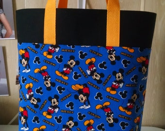 Boys Disney Mickey Mouse Tote Bag Library Bag Ladies Tote