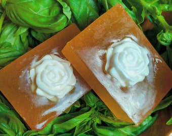 Cantaloupe and Lily- Glycerin Soap