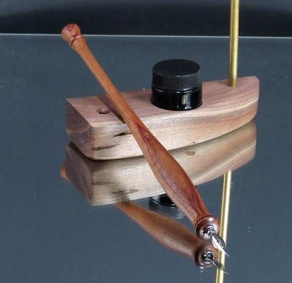 Straight Calligraphy Nib Holder Canary Wood Ink Pen