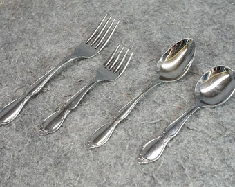 Oneida Community Stainless - Steel Serving Utensils Flatware x 4
