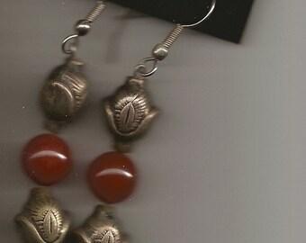 300 AD Amber Bead Earrings-EG25