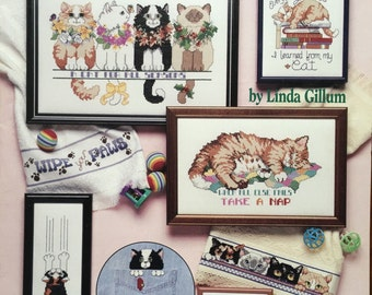 Cat Purr-sonalities, Cross Stitch American School of Needlework 3588