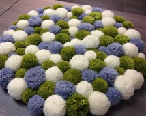 Unique Pom Pom Rug Related Items Etsy
