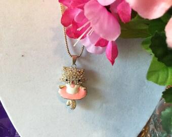 Shiny Hello Kitty Rhinestone Necklace