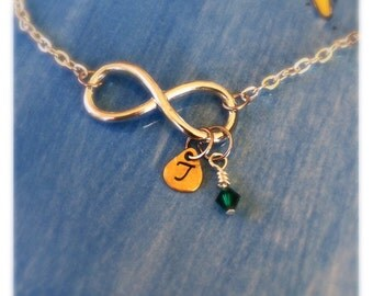 Personalized Handstamped infinity necklace