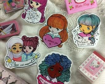 Support Sticker set