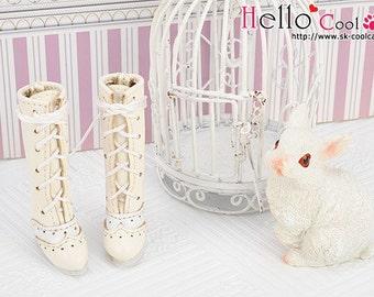 07-01。Blythe Pullip High Heel Boots.White