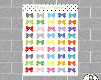 Bow Mini Icon Planner Stickers