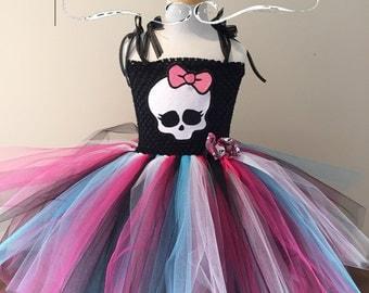 Monster High Skullette tutu dress ~ KNEE LENGTH