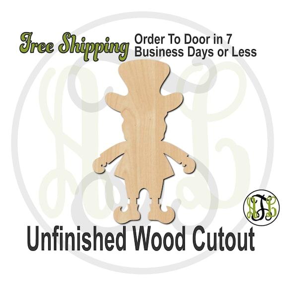 Leprechaun - 120003- St. Patrick's Day Cutout, unfinished, wood cutout, wood craft, laser cut shape, wood cut out, Door Hanger, wooden