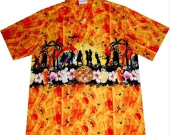 """hawaiian shirt """"Summer Party"""", 100% cotton, size M - 6XL"""