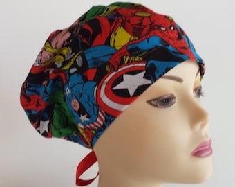 Women's surgical scrub hats, or scrub caps-Super Hero DC