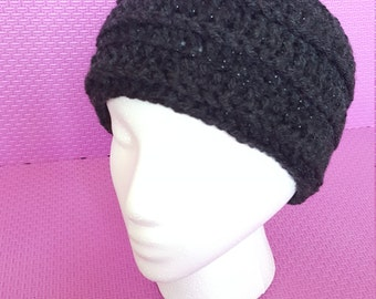 Dark Grey crocheted Headband