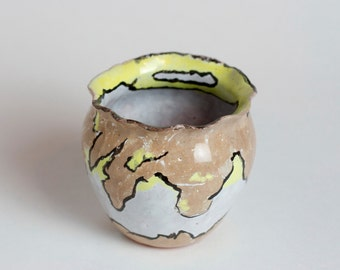 Ceramic handmade flower planter, cactus pot, for plants, cactus pot, pinch pot,